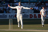 Simon Harmer in bowling action for Essex during Essex CCC vs Somerset CCC, Specsavers County Championship Division 1 Cricket at The Cloudfm County Ground on 27th June 2018