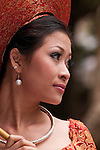 Vietnamese Bride 12 - Vietnamese bride in traditional red dress, Hanoi, Vietnam