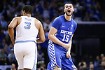 Kentucky Wildcats forward Isaac Humphries celebrates a basket against the North Carolina Tar Heels during the 2017 NCAA Men's Basketball Tournament South Regional Elite 8 at FedExForum in Memphis, TN on Friday March 24, 2017. Photo by Michael Reaves | Staff