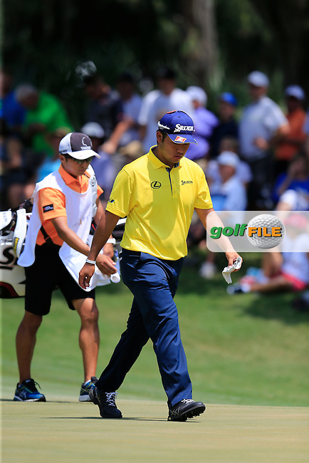 Hideki Matsuyama (JAP) during round 2 of the Players, TPC Sawgrass, Championship Way, Ponte Vedra Beach, FL 32082, USA. 13/05/2016.<br /> Picture: Golffile | Fran Caffrey<br /> <br /> <br /> All photo usage must carry mandatory copyright credit (&copy; Golffile | Fran Caffrey)