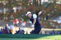 European Team Player Justin Rose (ENG) chips onto the 16th green during Sunday's Singles Matches of the 39th Ryder Cup at Medinah Country Club, Chicago, Illinois 30th September 2012 (Photo Colum Watts/www.golffile.ie)