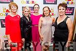 Doireann Egan, Jackie Harty, Sally Ann Leahy, Rachel Cantillon and Joan Reil Burke attending the Causeway Community Action Group  Oskars fundraiser  in the Ballyroe Heights Hotel on Friday.