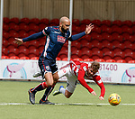 28.04.18 Hamilton v Ross County: David Templeton fouled on the edge of the box by liam Fontaine but nothing awarded