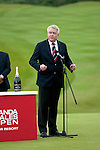 3rd June 2012 - Celtic Manor Resort - Newport - South Wales - UK :   Carwyn Jones, First Minister for Wales at the  ISPS Handa Wales Open Golf Tournament at the Celtic Manor Resort..