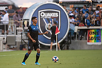 SAN JOSE, CA - AUGUST 24: Marcos López #27 of the San Jose Earthquakes during a game between Vancouver Whitecaps FC and San Jose Earthquakes at Avaya Stadium on August 24, 2019 in San Jose, California.