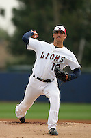 February 26, 2010: Martin Viramontes of Loyola Marymount University during game against University of California at Riverside at LMU in Los Angeles,CA.  Photo by Larry Goren/Four Seam Images