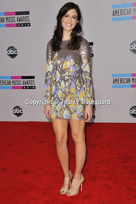 Mandy Moore  - 2010 American Music Awards - AMA - At the Nokia Theatre in Los Angeles.