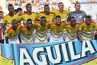 BARRANQUILLA  -COLOMBIA, 13-08-2016. Formación del Rionegro Águilas contra Junior.  durante encuentro  por la fecha 8 de la Liga Aguila II 2016 disputado en el estadio Metroplitano Roberto Meléndez ./ Team of Rionegro Aguilas against Junior.  during match for the date 8 of the Aguila League II 2016 played at Metroplitano Roberto Melendez stadium . Photo:VizzorImage / Alfonso Cervantes  / Contribuidor