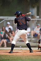 Jarrett Ford (74) while playing for FTB/SF Giants Scout Team based out of Kissimmee, Florida during the WWBA World Championship at the Roger Dean Complex on October 21, 2017 in Jupiter, Florida.  Jarrett Ford is a second baseman / shortstop / outfielder from Decatur, Georgia who attends Decatur High School.  (Mike Janes/Four Seam Images)