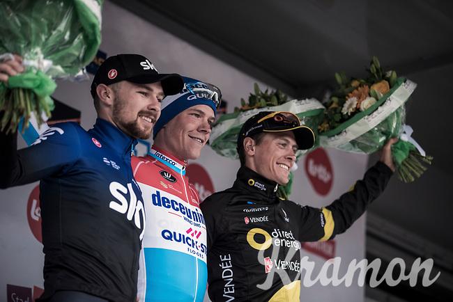 Podium:<br /> <br /> 1. Bob Jungels (LUX/Deceuninck Quick Step)<br /> 2. Niki Terpstra (NED/Direct Energie)<br /> 3. Owain Doull (GBR/Team Sky)<br /> <br /> <br /> 71st Kuurne-Brussel-Kuurne (2019)<br /> Kuurne > Kuurne 201km (BEL)<br /> <br /> ©kramon