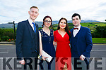 Enjoying the Killarney secondary schools Debs at Ballyroe Heights Hotel on Monday were Paul Brosnan, Eleanor Troy, Aobhinn Dobbins and Donagh O'Leary