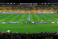 A general view of the Super 15 rugby match between the Hurricanes and Highlanders at Westpac Stadium, Wellington, New Zealand on Saturday, 17 March 2012. Photo: Dave Lintott / lintottphoto.co.nz