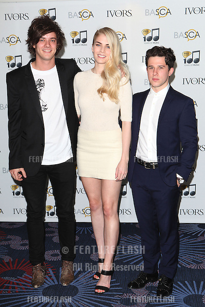 London Grammar arriving for the 59th Ivor Novello Awards, at the Grosvenor House Hotel, London. 22/05/2014 Picture by: Alexandra Glen / Featureflash