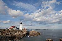 Portland Head Light, Portland, ME afternoon clouds