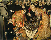 BNPS.co.uk (01202 558833)<br /> Pic: IndarPasricha/BNPS<br /> <br /> This detail from El Greco's The Burial of the Count of Orgaz shows the sumptuous vestments worn by the church.<br /> <br /> From High Fashion to the High Church...<br /> <br /> An incredible collection of 17th century ecclesiastical textiles, that actually started life as luxury fashion worn by the aristocratic women of the day, has emerged for sale.<br /> <br /> The historically important ensemble highlights a golden moment in European textile production dating from 1690 to 1720 when free reign was given to intricate dress designs in gold and silk that was soon adopted by the senior members of the church to adorn they're otherwise plain vestments.<br /> <br /> The valuable collection, assembled over two decades, is now being sold with prices ranging from &pound;5,000 all the way to &pound;1m.