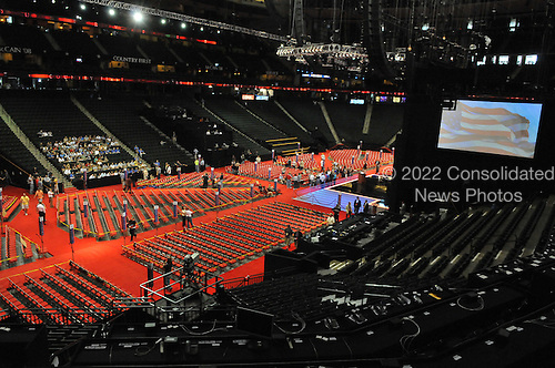 St. Paul, MN - August 31, 2008 -- View of the 2008 Republican Convention at the Xcel Center in St. Paul, Minnesota on Sunday, August 31, 2008.  This perspective is with the 17mm lens from a fixed position assigned to the NY Post..Ron Sachs / CNP