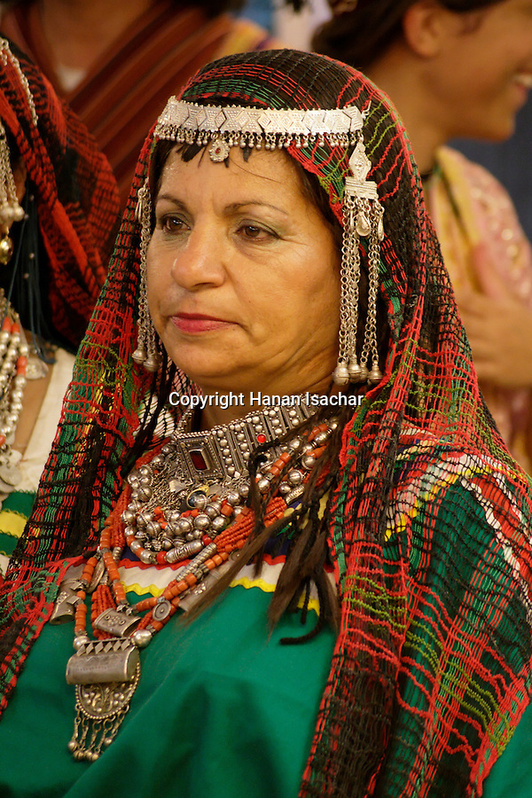 Israel, Jerusalem, A Yemenite Jewish woman in traditional outfit 2005<br />