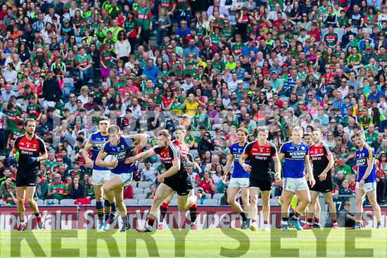 Jack Barry Kerry in action against Seamus O'Shea Mayo in the All Ireland Semi Final Replay in Croke Park on Saturday.