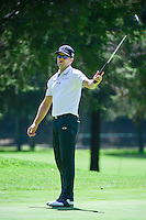 Zach Johnson (USA) reacts to barely missing a birdie putt on 3  during round 2 of the World Golf Championships, Mexico, Club De Golf Chapultepec, Mexico City, Mexico. 3/3/2017.<br /> Picture: Golffile | Ken Murray<br /> <br /> <br /> All photo usage must carry mandatory copyright credit (&copy; Golffile | Ken Murray)