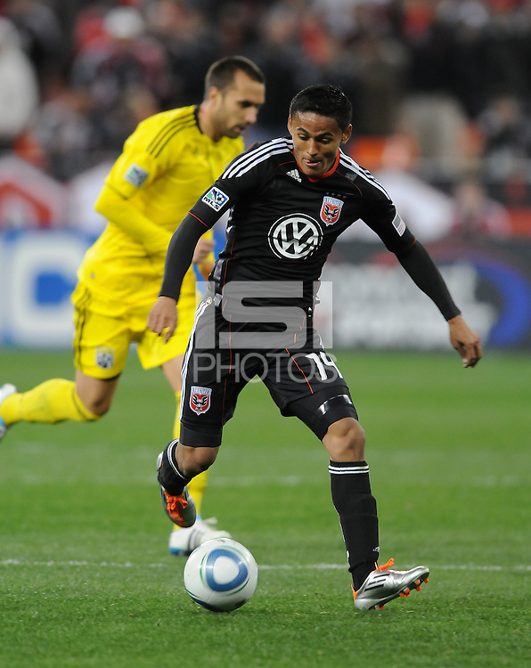 DC United midfielder Andy Najar (14)  .  DC United defeated The Columbus Crew 3-1 at the home season opener, at RFK Stadium, Saturday March 19, 2011.