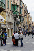 Republic Street in Valletta, Malta, Europa, Unesco-Weltkulturerbe