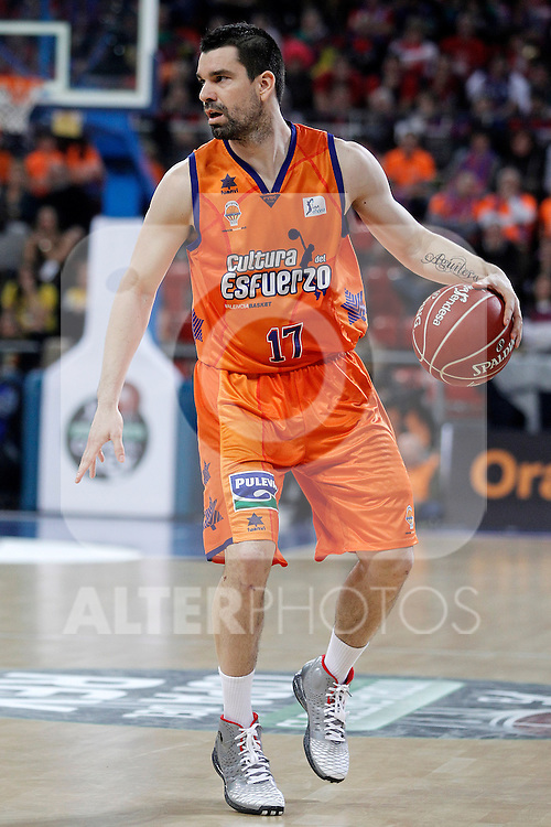 Valencia Basket Club's Rafa Martinez during Spanish Basketball King's Cup semifinal match.February 07,2013. (ALTERPHOTOS/Acero)