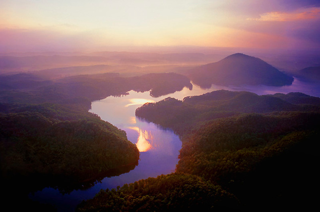 Sunset over Lake Ocoee, Cherokee National Forest