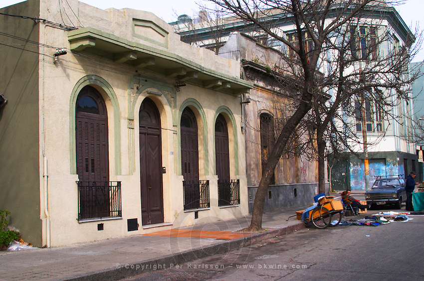 A town house from early 20th century (probably) in one of the city streets Montevideo, Uruguay, South America
