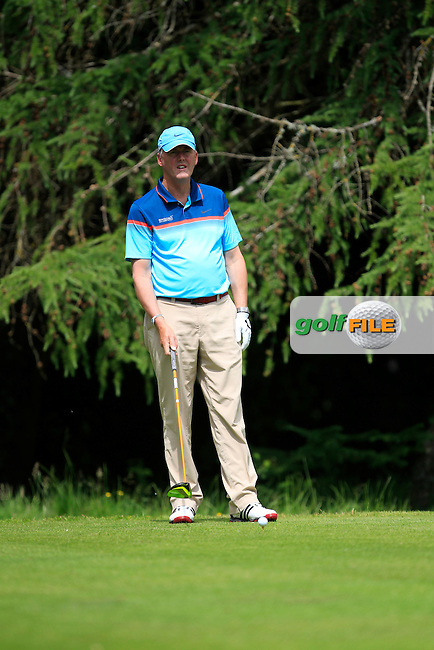 John Mitchell (Tramore) on the 8th tee during Round 1 of the Leinster Seniors Amateur Open Championship at Enniscorthy Golf Club on Tuesday 23rd June 2015.<br /> Picture:  Thos Caffrey / www.golffile.ie