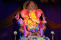 Folk art created in clay in the form of Lord Ganesh or Ganpati, for the extremely popular Hindu festival Ganesh Chaturthi.