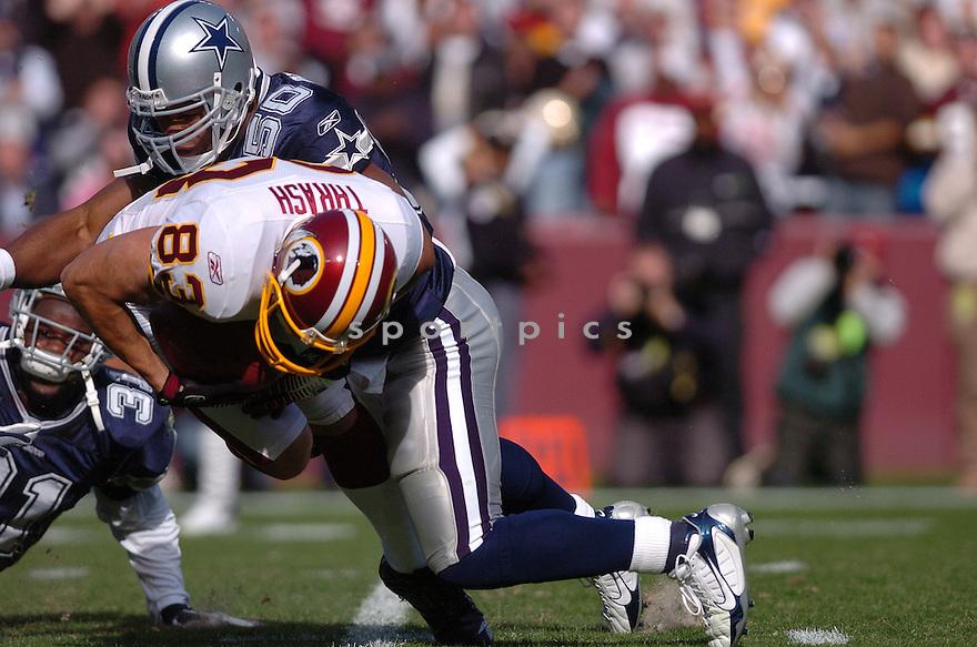 AKIN AYODELE, of the Dallas Cowboys ,during their game against  the  Washington Redskins on Novmeber 05, 2006 in Washington D.C....Redskins win 22-19..Tomasso DeRosa / SportPics