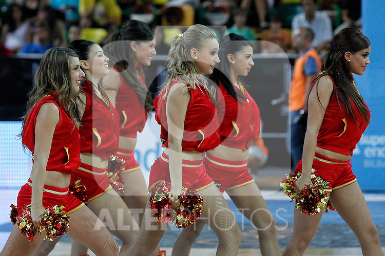 ACB's cheerleaders during Supercopa ACB Final match.October 1,2011. (ALTERPHOTOS/Acero)