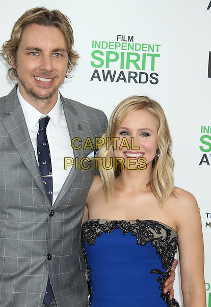1 March 2014 - Santa Monica, California - Dax Shepard, Kristen Bell. 2014 Film Independent Spirit Awards held at Santa Monica Beach. <br /> CAP/ADM/RE<br /> &copy;Russ Elliot/AdMedia/Capital Pictures