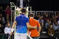 Rotterdam, Netherlands, 10 februari, 2019, Ahoy, Tennis, ABNAMROWTT, RYAN NIJBOER (NED) + FRANKO SKUGOR (CRO) Photo: Henk Koster/tennisimages.com