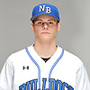 Brian Primm of North Babylon poses for a portrait during Newsday's varsity baseball season preview photo shoot at company headquarters in Melville on Thursday, March 22, 2018.