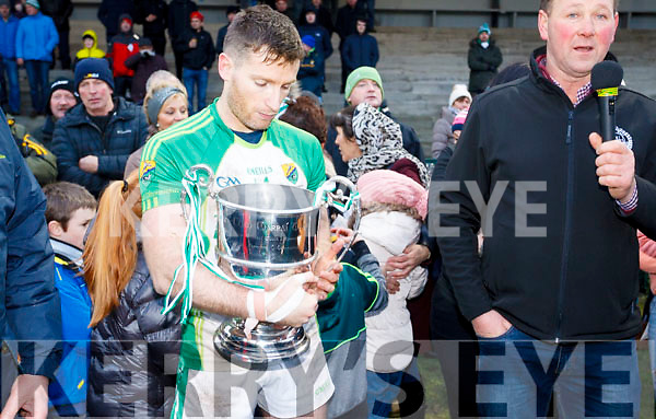 Celebrations begin as Ballydonoghue capture their second NK football championship title in a row.