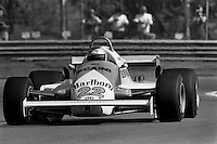 MONTREAL, CANADA - SEPTEMBER 27: Mario Andretti drives the Alfa Romeo 179D 02/Alfa 1260 during practice for the 1981 Canadian Grand Prix FIA Formula One World Championship race at the Circuit Île Notre-Dame temporary circuit in Montreal, Canada, on September 27, 1981.