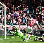 Nederland, Amsterdam, 7 oktober  2012.Seizoen 2012-2013.Eredivisie.Ajax-FC Utrecht.Ryan Babel van Ajax scoort de 1-0