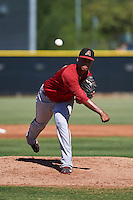 Arizona Diamondbacks pitcher Emilio Vargas (18) during an instructional league game against the Los Angeles Angels / Chicago Cubs co-op team on October 9, 2015 at the Tempe Diablo Stadium Complex in Tempe, Arizona.  (Mike Janes/Four Seam Images)
