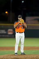 AZL Giants relief pitcher Joey Marciano (65) prepares to deliver a pitch against the AZL Brewers on August 15, 2017 at Scottsdale Stadium in Scottsdale, Arizona. AZL Giants defeated the AZL Brewers 4-3. (Zachary Lucy/Four Seam Images)