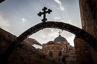 Dome exterior of the Church of the Holy Sepulchre in Jerusalem