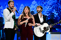 25 September 2019 - Nashville, Tennessee - Charles Kelley, Dave Haywood, Hillary Scott, Lady Antebellum. 2019 CMA Country Christmas held at the Curb Event Center. Photo Credit: Dara-Michelle Farr/AdMedia