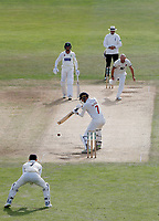 Darren Stevens of Kent bowls to Jack Murphy during the Specsavers County Championship division two game between Kent and Glamorgan (day 3) at the St Lawrence Ground, Canterbury, on Sept 20, 2018