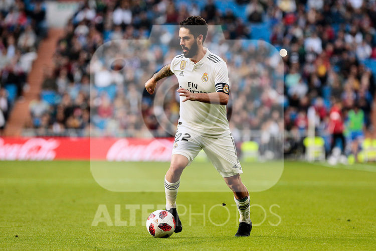 Real Madrid's Francisco Alarcon 'Isco' during Copa del Rey match between Real Madrid and UD Melilla at Santiago Bernabeu Stadium in Madrid, Spain. December 06, 2018. (ALTERPHOTOS/A. Perez Meca)