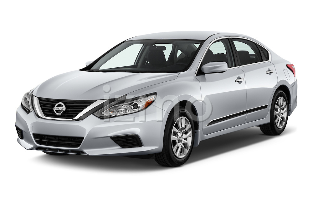 2016 Nissan Altima S 4 Door Sedan Angular Front stock photos of front three quarter view