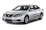 2017 Nissan Altima S 4 Door Sedan Angular Front stock photos of front three quarter view