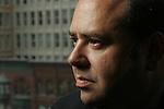 ©2005  David Burnett/Contact  .davidb383@aol.com.July 15, 2005.Washington DC..Time Magazine reporter Matthew Cooper, at the TIME offices in Washington DC..Contact Press Images.New York NY.212 695 7750