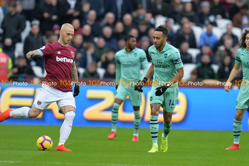Marko Arnautovic of West Ham United during West Ham United vs Arsenal, Premier League Football at The London Stadium on 12th January 2019