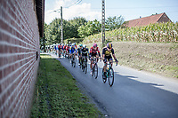 Bram Tankink (NED/team Lotto NL-Jumbo) leading the peloton<br /> <br /> 102nd Kampioenschap van Vlaanderen 2017 (UCI 1.1)<br /> Koolskamp - Koolskamp (192km)
