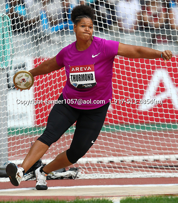 Aretha Thurmond at the Samsung Diamond League. Paris,France Friday, July  16, 2010. Photo by Errol Anderson.